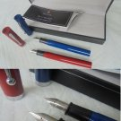SHEAFFER NO NONSENSE set 2 fountain pens red and blue In gift box Originals