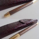GUCCI BALL PEN in wood and gold color Original