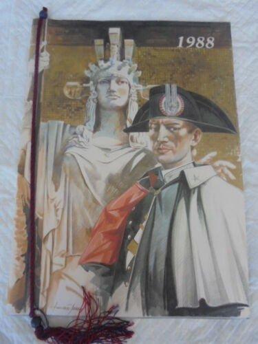 CALENDAR CARABINIERI Calendario ITALY Original from 1988 well kept with ribbon