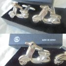 SK jewels VESPA motocycle CUFFLINKS rodiated silver Original In gift box Made in Italy