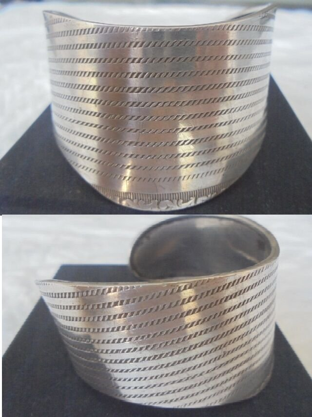 TRIBAL CUFF BRACELET in Sterling Silver 925 Original from Senegal