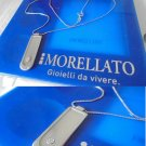 MORELLATO JEWELS ITALY necklace sterling silver 925 +pendent charm Swarovski crystal Original