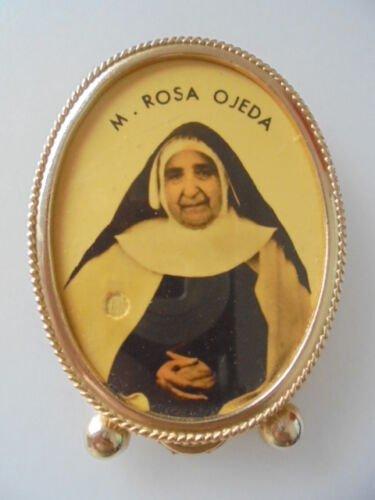 RELIQUARY of Mother Maria Rosa OJEDA CREUS with relic ex indumentis Original Spain Barcelona 1998
