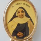RELIQUARY of Mother Maria Rosa OJEDA CREUS with relic ex indumentis Original Spain Barcelona 1998