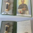RELIQUARY with RELIC Ex Indumentis of Saint MARTIN de Porres Lima with Statue Original from 1962