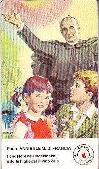 IMMAGE with RELIC of Father ANNIBALE Di Francia dei Regazionisti Original from 1970