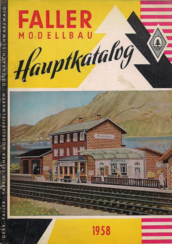 FALLER CATALOG 1958 trains house plains Models Original German edition