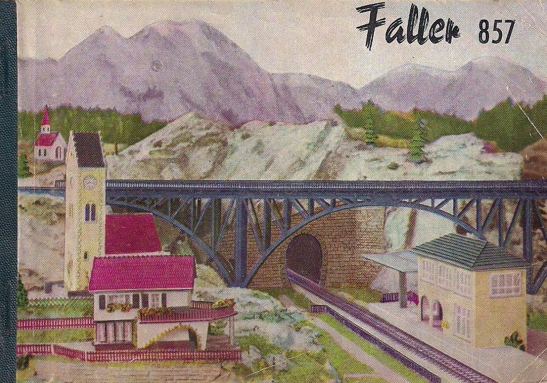 FALLER 857 CATALOG Original from 1957 German edition Planes bridges houses