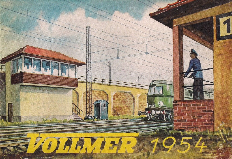 VOLLMER CATALOG Original from 1954 trains, locomotives, train stations, models German edition