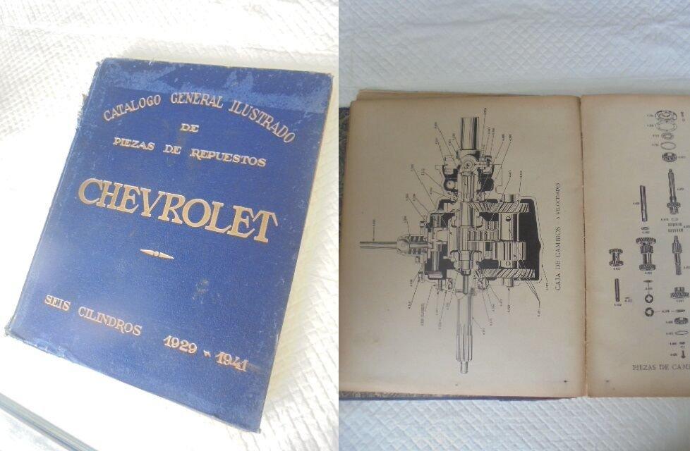 CHEVROLET 6 CILINDERS car CATALOG 1929-41 Original spanish edition 1941 Book