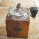 AT BREVETTI ITALY coffee grinder in wood and metal Original from 1955 Working