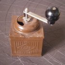 COFF COFFEE GRINDER in tin brown color Original from 1963 Working
