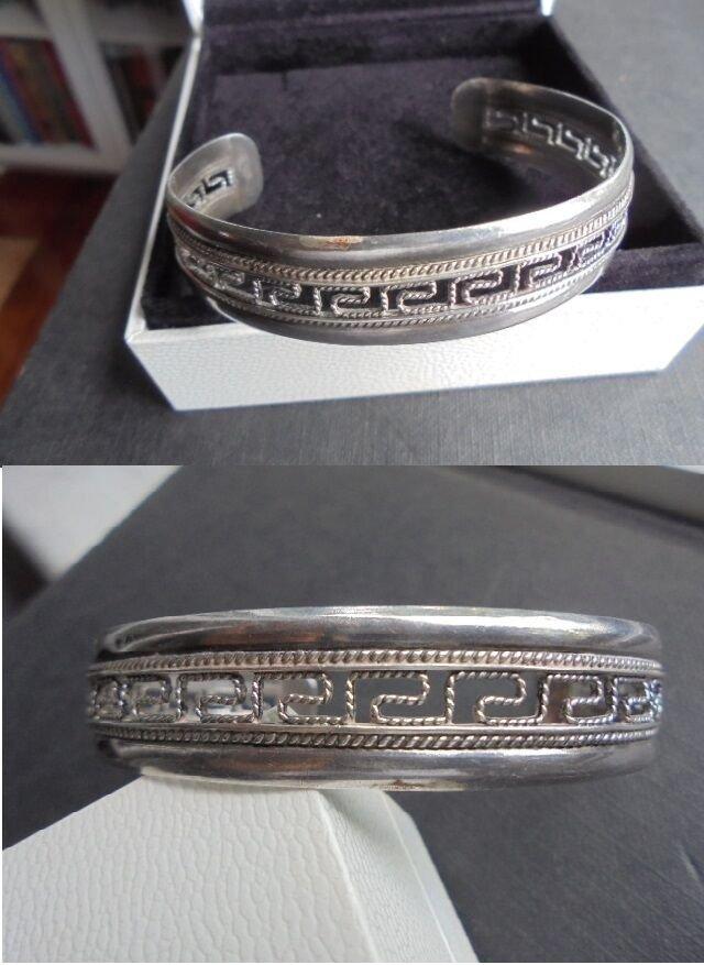 BRACELET in STERLING SILVER 925 with greek design Original in gift box