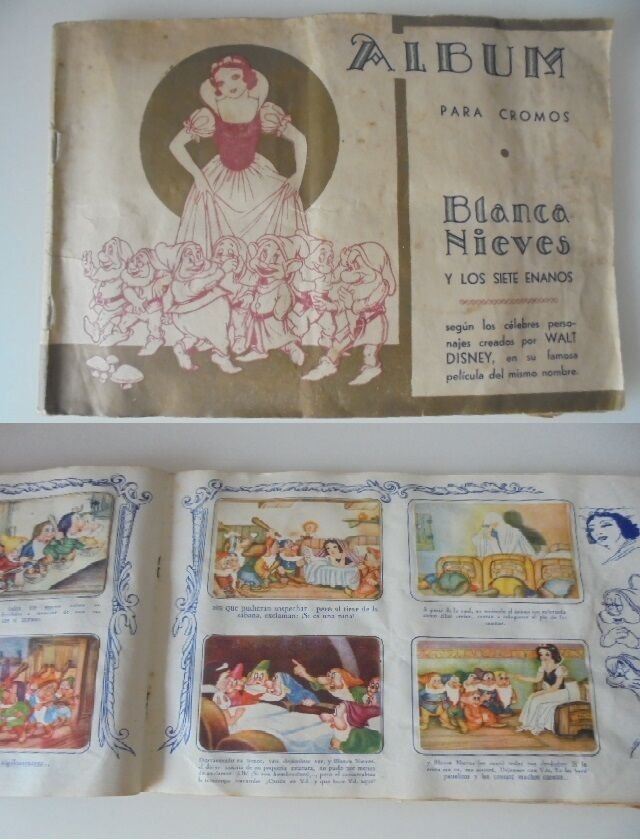 SNOWWHITE and the 7 DWARFS complete sticker album FHER 1941 Original from Spain Blanca Nieves Disney
