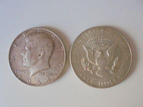 JFK President John Fitzgerald Kennedy Half dollar coin in SILVER U.S.A. 1964
