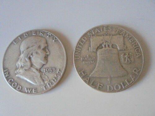 BENJAMIN FRANKLIN Half dollar coin in SILVER U.S.A. 1953