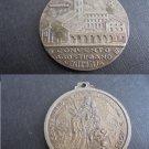SAINT AUGUSTINE bronze MEDAL 100th anniversary Ventimiglia convent Italy Original 1882-1982