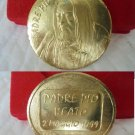 MEDAL for the beatification of PADRE PIO da Pietralcina by Aligi Sassu Original 1999