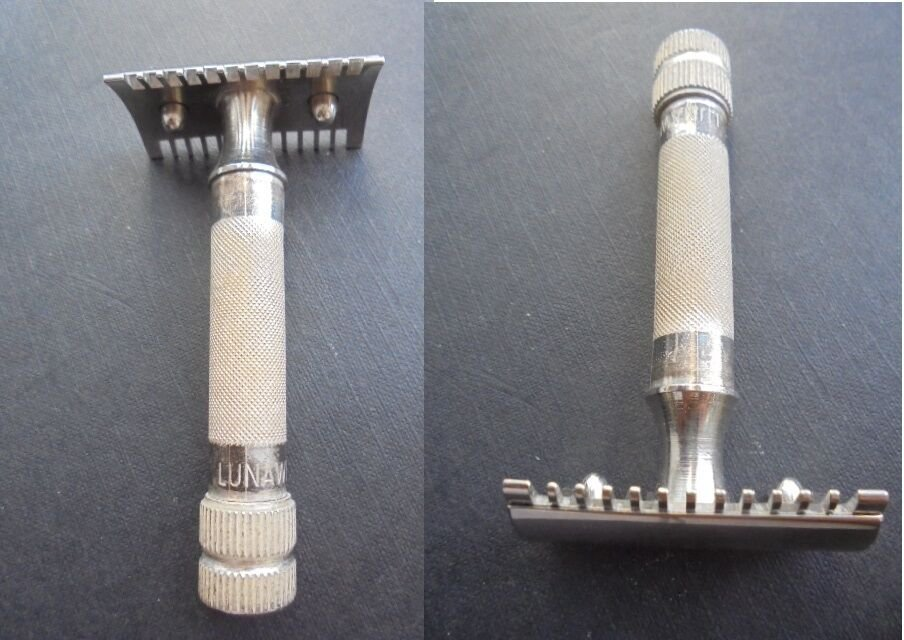 LUNAWERK SOLINGEN Blade Safety shaving RAZOR Original 1960s