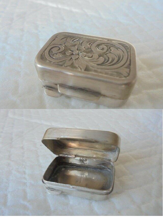 BRANDIMARTE Firenze Italy PILL BOX in sterling silver 925 original 1980s