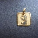 PENDENT MEDAL in GOLD 18 Karats religious christianity Italy Milan 1.5 grams In gift box