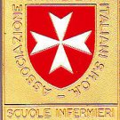 Lacquè MEDAL brooch of the Italian Nurses of the MALTA ORDER Original Italy