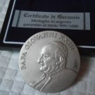 POPE Roncalli JOHN XXIII silver medal 999 engraved by Aligi Sassu Original from 2000