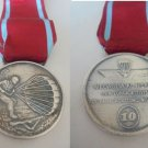 BRONZE MEDAL in silver color of the Italian AERONATICS Aviation for 10 years of parachute