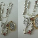 ROSARY NECKLACE of the Military Order of Saint Michael in metal Original 1970s