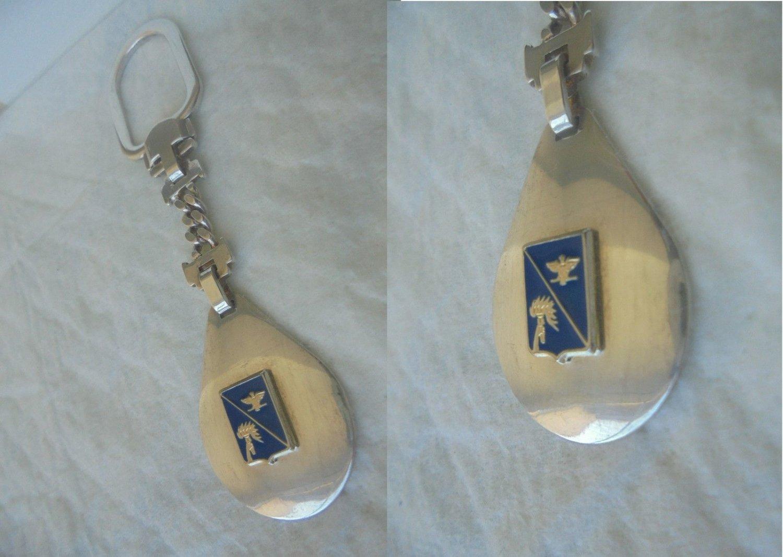 ITALY ARMA CARABINIERI keychain in silver sterling 925 Original