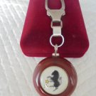 TORINO CALCIO soccer KEYCHAIN in sterling silver 925 and wood
