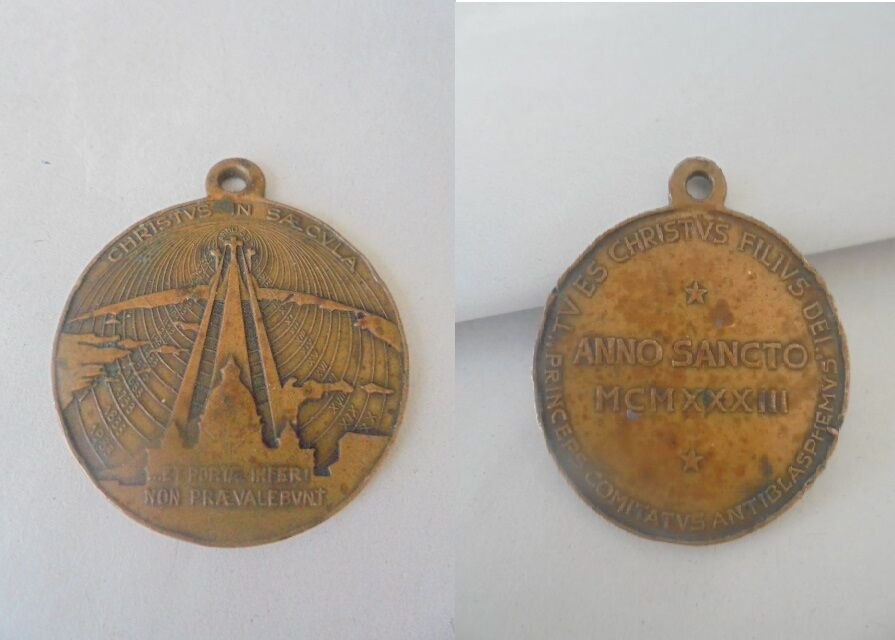 BRONZE MEDAL for the Jubilee 1933 Pope Pius XI Original