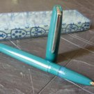 UNIVERSAL fountain pen TURQUOISE and steel Original 1970s