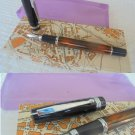 PILON fountain pen lacquè and in GOLD 18K GP Original