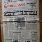 Campionati del Mondo 1982 CORRIERE dello SPORT newspaper Germany Algeria Soccer World Cup 17-6-1982