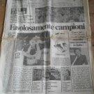 Il MESSAGGERO 12/7/1982 Favolosamente Campioni del Mondo ITALIA GERMANIA Soccer World Cup newspaper