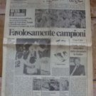 Il MESSAGGERO 12-5-1982 ITALIA 3 GERMANIA 1 Campioni del Mondo Soccer World Cup newspaper