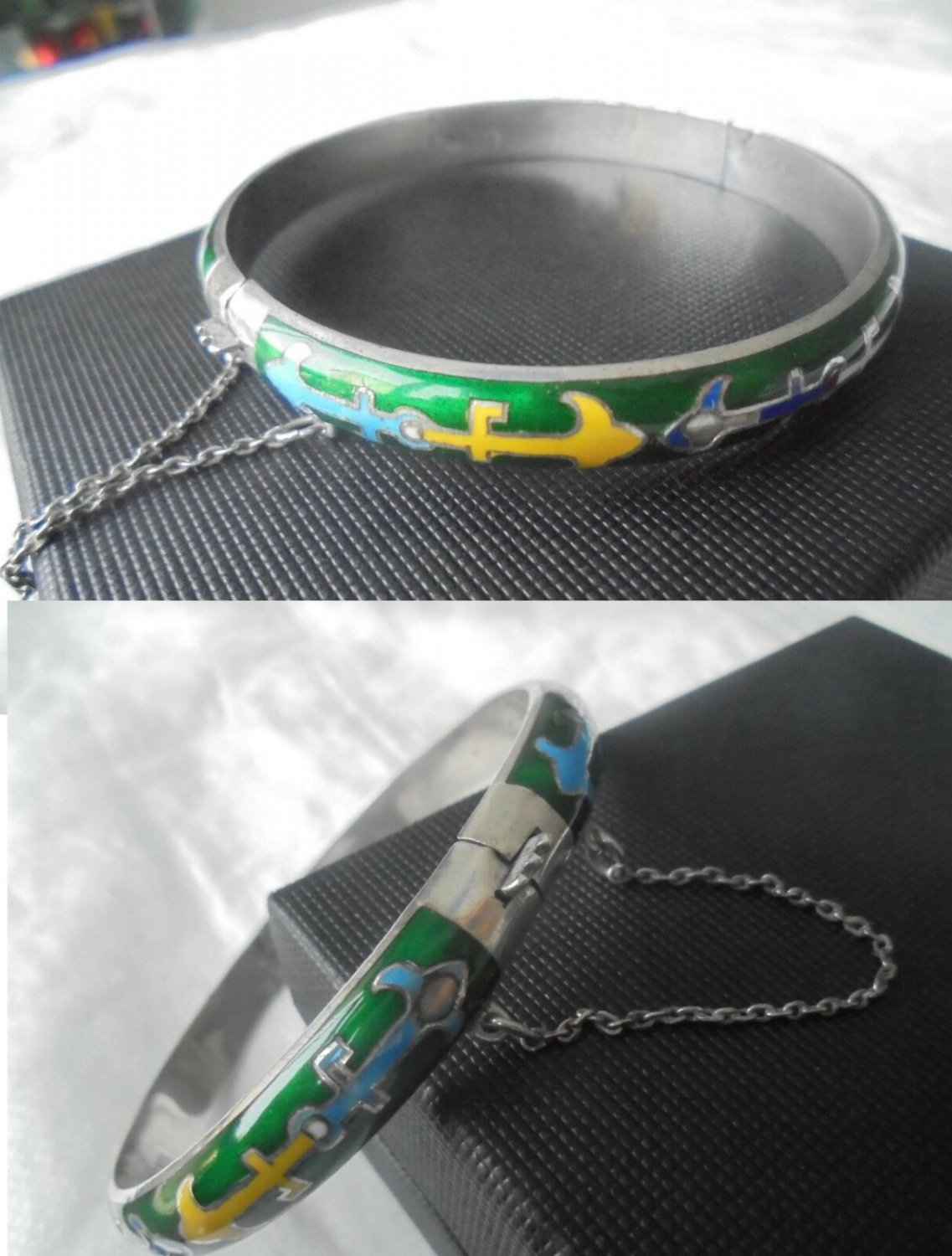 BRACELET in sterling SILVER 925 and with LACQUE anchors Original in gift box