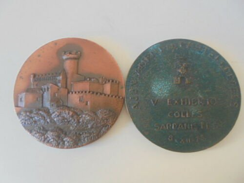 BRONZE MEDAL of the 5th Vintage Car Exhibition in CASTELLDEFELS Spain 1973 Original