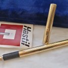 AURORA HASTIL fountain pen in sterling SILVER 925 and gold 14K Design Zanuso In box + garantee