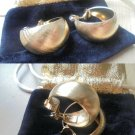 MONET JEWELS Original clip EARRINGS gold plated New from 1970s In gift pochette