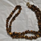 Long TIGER EYE NECKLACE Original from 1970s in gift box