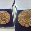 BRONZE MEDAL of Saint Ignatius of LOYOLA Pedro Favre Francisco Javier Engrever Cascione In box
