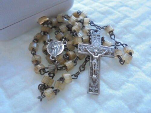 ROSARY necklace in SILVER 800 PORZIUNCOLA and S. Maria degli Angeli Assisi Italy 1950s