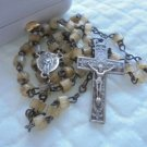 ROSARY necklace in SILVER 800 PORZIUNCOLA and S. Maria degli Angeli Assisi Italy 1950s