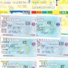 30 TICKETS LAZIO CALCIO soccer team matches Italy 2001-2003 Originals