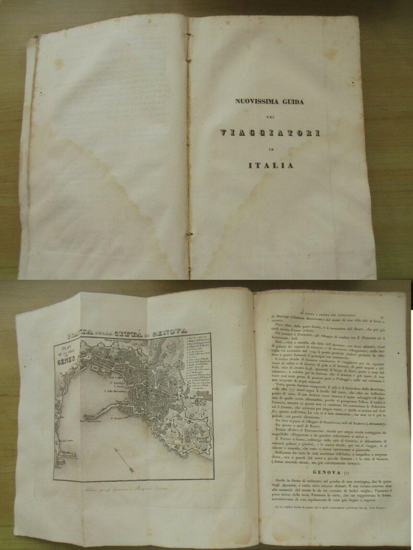 NUOVISSIMA GUIDA dei viaggiatori in ITALIA Travel guide book Epimaco & Artaria Original Ed 1834