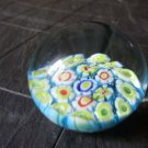 MURANO GLASS ITALY original paperweight with flowers paper weight from 1970s
