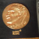 MONTBLANC BRONZE MEDAL for the 90th anniversary of the death of Toscanini Original 2007 in its bag