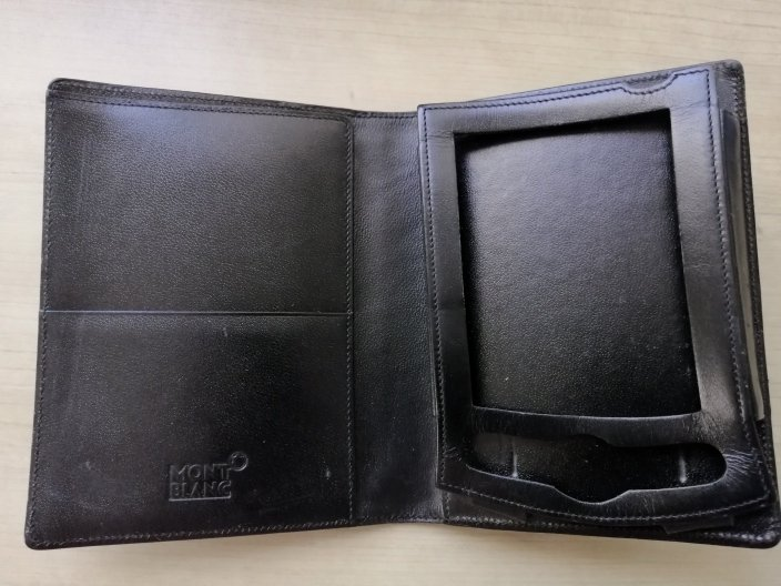 MONTBLANC CASE for BLACKBERRY mobile phone in black leather Original
